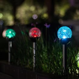 Ip65 Light Price Australia - Wholesale Price LED RGB Color Changing Crackle Glass Ball Solar Stake LED Solar Crackle Glass Ball Light for Garden