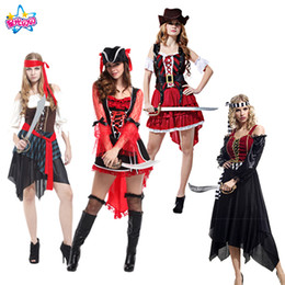 NoEnName Free shipping Holiday Party Pirate Cosplay Costume Caribbean  Pirates Adult Women s Halloween Party Supplies 3b4fc8ab4