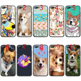 $enCountryForm.capitalKeyWord NZ - cute Corgi dog Soft Black TPU Phone Case for iPhone XS Max XR 6 6s 7 8 Plus 5 5s SE Cover