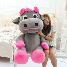Giant stuffed animals for kids online shopping - Dorimytrader Kawaii Animal Cow Plush Toy Giant Stuffed Cartoon Bull Doll for Girlfrend and Kids Gift inch cm DY60030