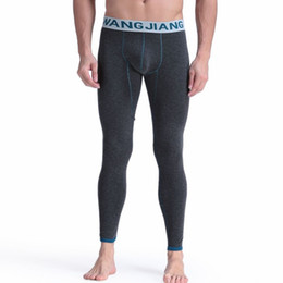 81c924d0c1 New men long johns plus velvet warm pants men cotton Thermal Underwear  Bottoms sexy gay underwear tight legging long Johns