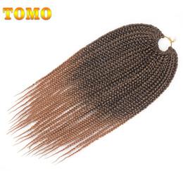 Discount crochet braids - TOMO Box Braid Crochet Braids Heat Resistant Synthetic Braiding Hair Extensions Ombre Brown Burgundy Purple Hair 14 18 2