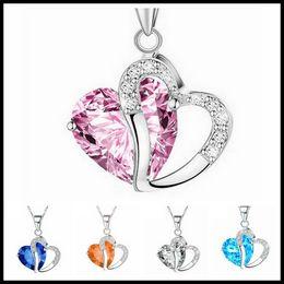7d77f0502 Black swarovski rhinestones online shopping - Fashion Heart Crystal  Rhinestone Silver Chain Pendants Swarovski Amethyst Jewelry
