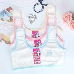 22f5f9cf7d4e5 Free Shipping 50pcs lot Teenage Girl Underwear Cotton Training Bra For Girls  Wire Free No Padded Camisole Vest Top