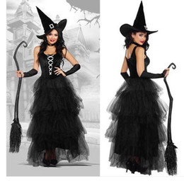 gothic vampire women costume UK - 2018 new Halloween costume explosion models ladies witch suit temperament witch night ghost ghost vampire female dress free post