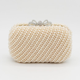 $enCountryForm.capitalKeyWord Canada - Free shipping by DHL Hot Sale handmade Minaudiere Day Clutches Bow Bolsas Bags Bolsos Luxury Pearl Clutch bag Banquet Bag wedding Evening