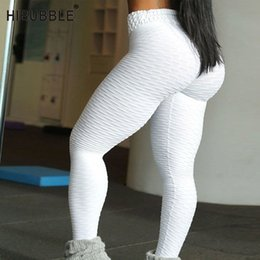 Toptan satış HIBUBBLE Yoga Pantolon Kadınlar Seksi Yüksek Bel Spor Tayt Hızlı Kuru Kalça Kaldırma Yoga Tayt Spor Fitness Egzersiz Koşu Pantolon
