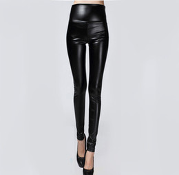 43397c3f74602 Hot Sale Autumn Winter Women Clothes Skinny PU Leather Pencil Leggings Sexy  Thin Fleece Trousers Ladies Slim Faux Leather Pants