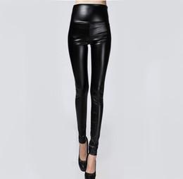 $enCountryForm.capitalKeyWord UK - Hot Sale Autumn Winter Women Clothes Skinny PU Leather Pencil Leggings Sexy Thin Fleece Trousers Ladies Slim Faux Leather Pants