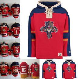 Xxxl Hockey Hoodie UK - Mens Florida Panthers 16 Aleksander Barkov 5 Aaron  Ekblad 1 Roberto bf43da811