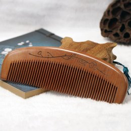$enCountryForm.capitalKeyWord Australia - LOGO Customized ebony Combs Engraved Logo Natural Wood Comb Beard Comb Wooden Comb Carve Name Mens Grooming Business Gift Hair Brushes a399