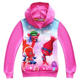 Sweet Boy Cartoon NZ - Cute Cartoon Boy Girls Jacket Spring Autumn Outerwear Sweet Toddler Coats Hooded Costume Children Kids Birthday Hoodies