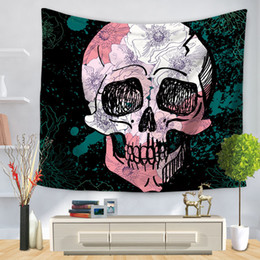 Decorative Wall Curtains NZ - Cartoon Horror Skeleton Tapestry Wall Art Tapestries Home Decorative Door Curtain Living Room Bedspread Sheet Polyester Table Cloth