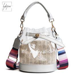 b51aeee2b1 Lydztion Jelly Bag Summer Tote New Colorful Handle Shoulder Messenger Chain  Bag Plastic Handbag Transparent Bucket Lock Lady