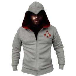 China Fashion Men Assassins Creed Hooded Sweatshirt Hombre Autumn Winter Solid Hoodie Sweatshirts Men Cosplay Chadal Cool Clothing 3xl cheap assassin clothes suppliers