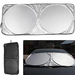 Chinese  150*70cm Car Window Film Folding Jumbo Front Rear Car Window Sun Shade Auto Visor Windshield Windscreen Sun Block Cover UV Protect manufacturers