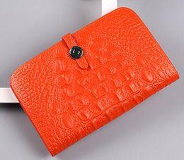 $enCountryForm.capitalKeyWord NZ - free shipping Genuine leather women's design wallet fashion classic Crocodile Wallet Coin Purse Female Credit Card Wallet