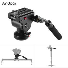 Discount sony action camera - Andoer Aluminum Tripod Head Panoramic Photographic Head With Action Fluid Drag Pan For Canon Nikon Sony DSLR Camera