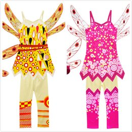$enCountryForm.capitalKeyWord Canada - Girls Vest + Pants Suit with Wing for Kids Girls Dress Mia and Me Girls Party Princess Cosplay Halloween Costume Baby Girl Clothes