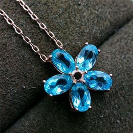 Apatite jewelry australia new featured apatite jewelry at best flower natural blue apatite pendant with chain 925 sterling silver necklace for women party weddings fashion jewelry mozeypictures Images