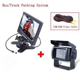Wholesale 7 Inch TFT Monitor With Water proof Camera For bus truck Rearview Camera