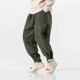 $enCountryForm.capitalKeyWord NZ - Men Winter Thick Warm Wool Loose Casual Pant Male Streetwear Hip Hop Harem Trousers Joggers Sweatpants Plus Size 5XL