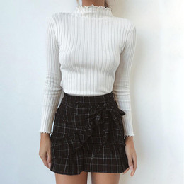 $enCountryForm.capitalKeyWord NZ - 2018 New Autumn Winter Fashion Sweater Long Sleeve Pullover Turtleneck Solid Knit Skinny Tops Sweater 3 Style