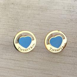 Discount fashion studs earrings - Famous brand 316L Titanium steel stud Earring Luxury Heart Shape Brand Women Charm love Earrings Fashion Jewelry wholesa