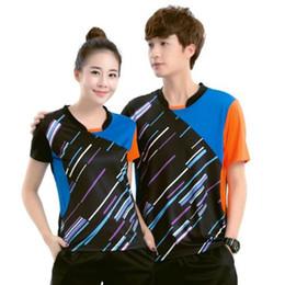 Sportswear T Shirt Badminton Australia - 2018 Badminton t-shirt Men Women's , sports badminton shirt ,Table Tennis Jersey , Tennis t shirt sportswear Ping Pong Polyester Clothing