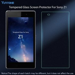 Wholesale protector z1 for sale - Group buy Tempered Glass for Sony Xperia Z1 Screen Protector Explosion Proof Protective Film H mm
