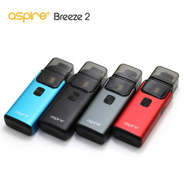 Aspire Kit NZ - 100% Authentic Aspire Breeze 2 kit (AIO) 3ml 2ml(TPD) Ejuice Capacity 1000mAh Battery 1.0ohm 0.6ohm U-tech coil refillable pod systems