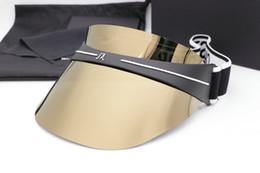 Hombres mujeres Cap gafas de sol Sombrero de mujer para unisex Colorido Cap Protección UV al aire libre de la lente Piernas de fibra de carbono Verano Estilo de calidad superior Caso Wiht