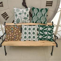 $enCountryForm.capitalKeyWord NZ - The Leaves Pillow Case Vintage Linen Pillow Cushion Cover Throw Decorative Cushion Cover 45x45cm Home Textile