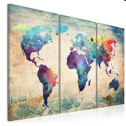 $enCountryForm.capitalKeyWord UK - HUGE MODERN ABSTRACT WALL DECOR ART OIL PAINTING ON CANVAS no frame World Map For Living Room