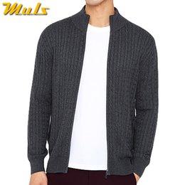 $enCountryForm.capitalKeyWord Australia - Men Sweatercoat Cotton Acrylic Rib Full Zipper Sweater jacket Man Autumn Winter Warm Male knitwear Coat Plus Size Outwear Dress