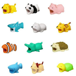 wire cord protector 2019 - Cute Animal Bite USB Lightning Charger Data Protection Cover Mini Wire Protector Cable Cord Phone Accessories Creative G