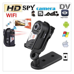 wifi mini cmos cameras NZ - Q7 Wireless WIFI Car Hidden Camera P2P Mini DV Night Vision IR Video Recorder DVR Hot Sale