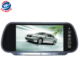 Car Reverse Parking Mirror Camera UK - Car HD Video Auto Parking Monitor, LED Night Vision Reversing CCD Car Rear View Camera With7 inch Car Rearview Mirror Monitor