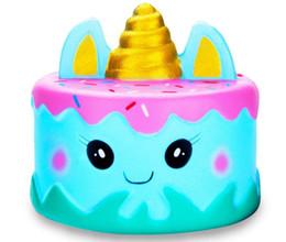 Venta al por mayor de Alivio para el estrés de la PU Jumbo Unicornio lindo Pastel Squishy Perfumado Squeeze Slow Rising Toys De Profesional Squishy Proveedor