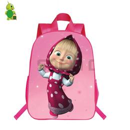 Discount russian bags - Russian Cartoon Backpack School Bags for Teenage Girls Daily Backpack Casual Travel Shoulder Bags Kids Book Bag