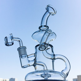 Klein recycler oil rigs online shopping - Newest Klein Tornado Percolator Glass Bong Inch Recycler Water Pipes mm Female Joint Oil Dab Rigs With Quartz Banger Or Bowl HR024