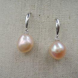 Discount fresh pearls wholesale - 100% nature fresh-water pearl earring,925 silver pearl earring,925 silver earring,big baroque earring