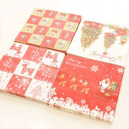20 pcs pack Christmas Disposable Napkins Xmas Party Tableware Decoration Supplies 33x33cm New Year  sc 1 st  DHgate.com & Disposable Christmas Tableware Australia | New Featured Disposable ...