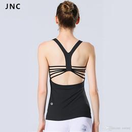 535a509db8 JNC Women s Yoga Tops Built in Bra Top Hangout Tank Shirts Perfect for Yoga  Pilates Activewear Clothes Tank Top Shirts