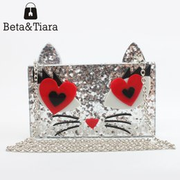 $enCountryForm.capitalKeyWord Canada - 2017 new acrylic evening bags cute cat clutches women envelope clutch handbag hardware party purses clutch evening purses