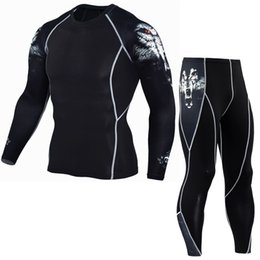 Football Compression Suit Australia - New Men Dry Fit Compression Tracksuit Fitness Tight Sportswears Running Set T-shirt Leggings Men Sportswear Gym Sport Suit P06