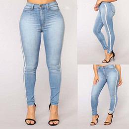 70eadd641788f Discount sexy women wearing skinny jeans - high street wear sexy line Jeans  Women High Waist