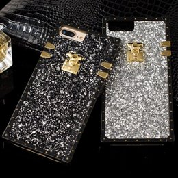 Wholesale Stylish Bling Glitter Phone Case for IPhone X plus plus s Plus Rhinestone Style Plastic TPU Texture Cellphone Cover