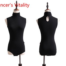 Practice Suits NZ - Latin Dance Vest Competition Practice Graceful Sexy Cut out Body Suits Outfits for Girls Women Tango Cha Cha Rumba Samba Salsa Dancing
