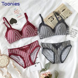 9609172e23 2018 New Fashion Lace Bra and Panty Set Striped Seamless Female Underwear  All-match Push Up Bra Set Comfortable Lingerie Femme